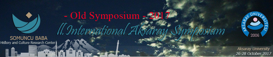 II. INTERNATIONAL AKSARAY SYMPOSIUM